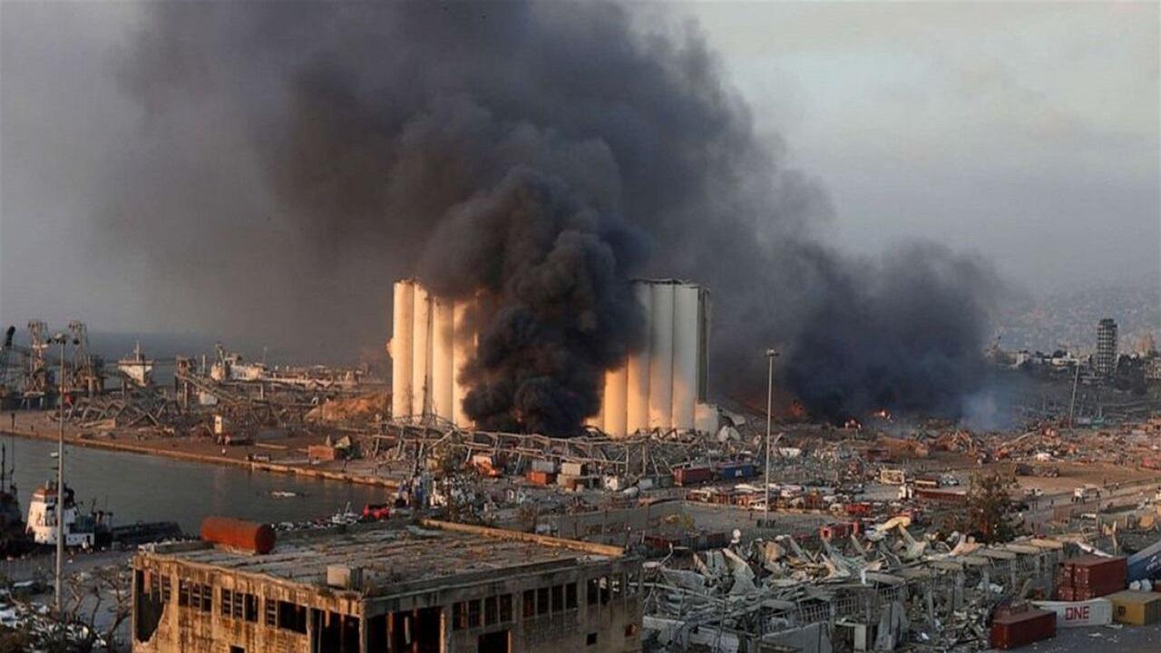 تصاویری هوایی از انفجار بیروت که قلب هرانسانی را به درد میآورد