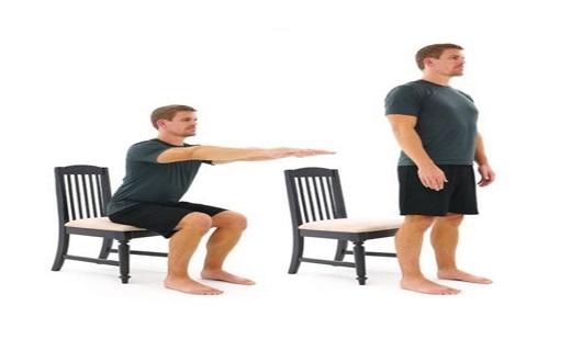 نشستن و برخاستن از صندلی