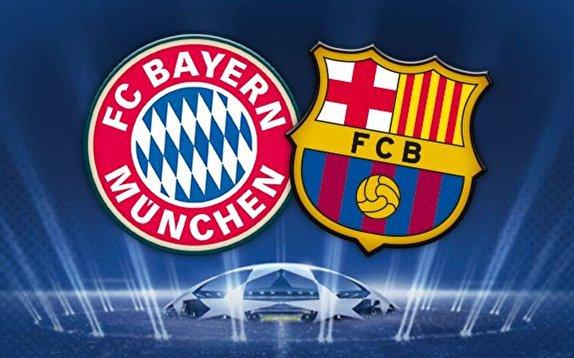 بازی فوتبال بارسلونا و بایرن مونیخ/ جدال غولهای اروپایی در لیسبون