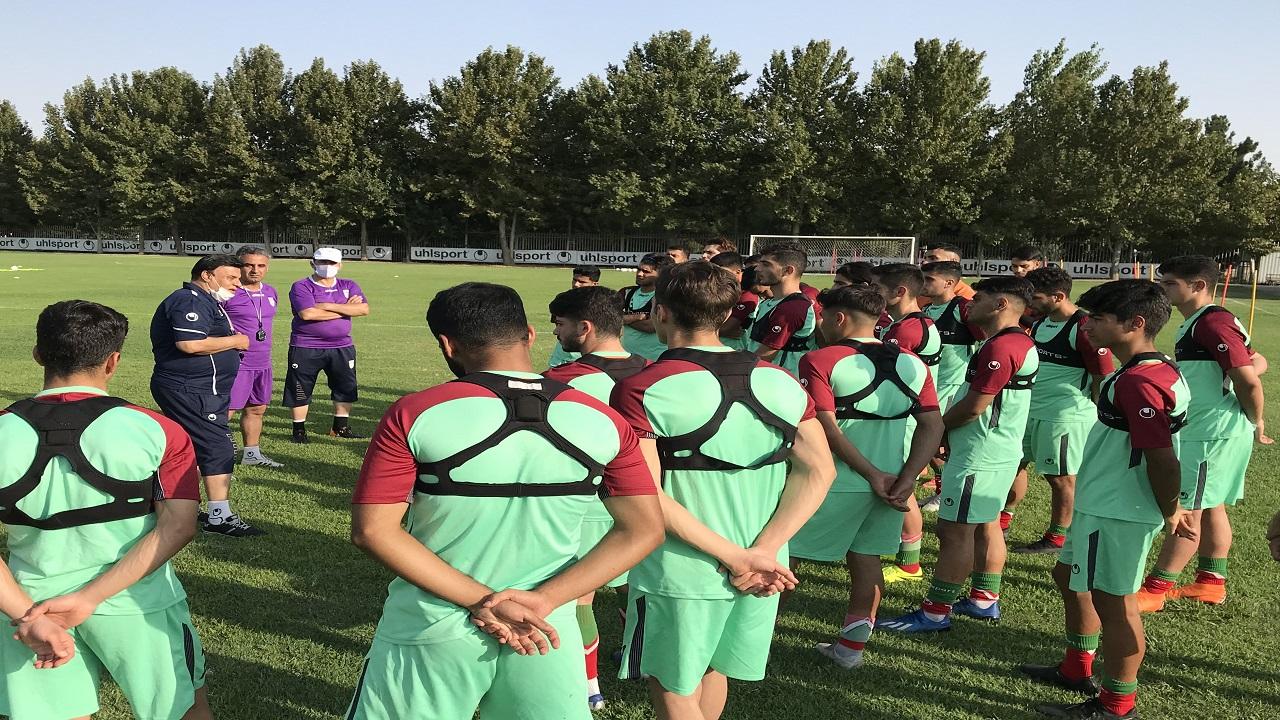 نخستین تمرین جوانان ملی پوش در مرکز ملی فوتبال