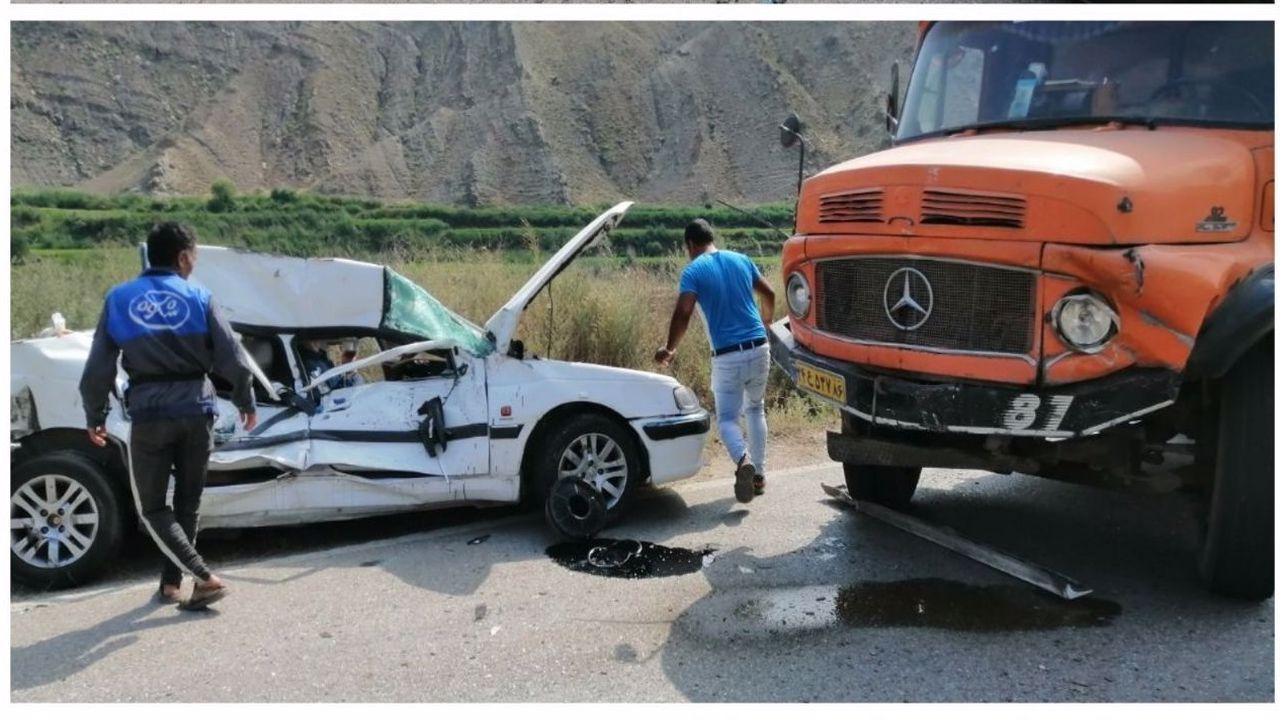 تصادف مرگبار در محور خوش ییلاق گلستان/دو نفر بر اثر شدت جراحات جان باختند