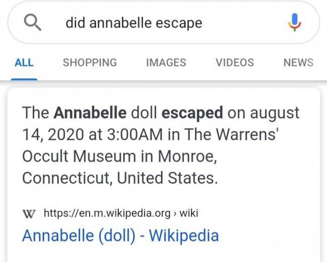 جواب ویکیپدیا به مسئله فرار آنابل