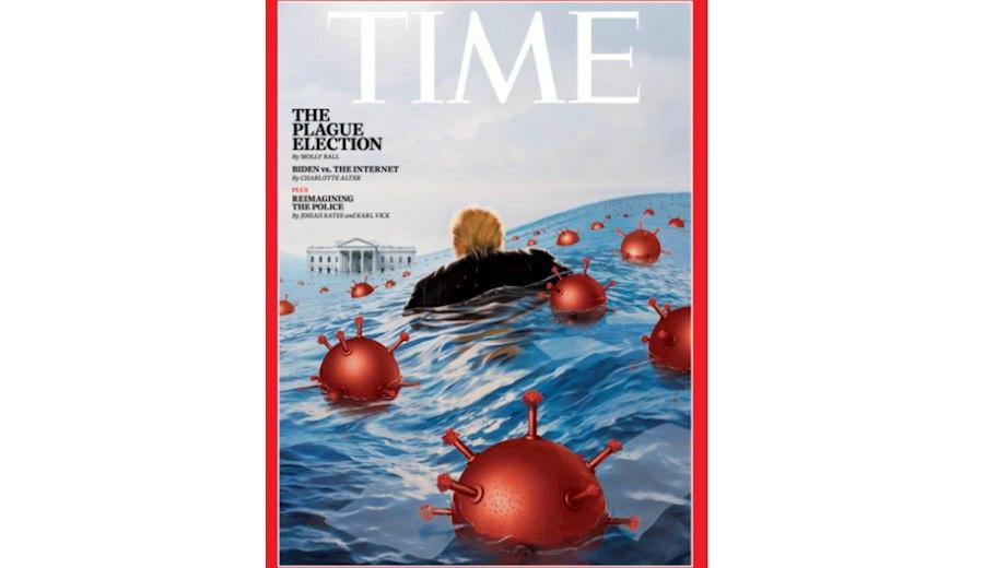 مجله تایم شرایط سخت پیروزی ترامپ در انتخابات را به تصویر کشید+ عکس