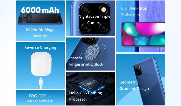 گوشی مقرون به صرفه ریلمی با باتری ۶۰۰۰ میلیآمپری