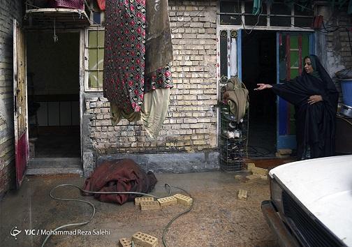 آب گرفتگی منازل مردم در خوزستان