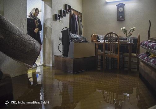 بالا زدگی فاضلاب در منازل مردم خوزستان