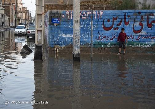آب گرفتگی معابر در خوزستان