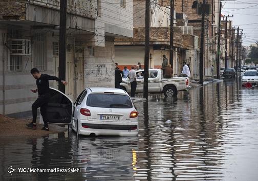 آب گرفتگی خیابان ها در خوزستان