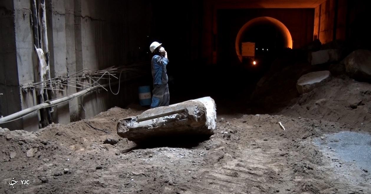 حفر تونل در خط سه قطار شهری مشهد