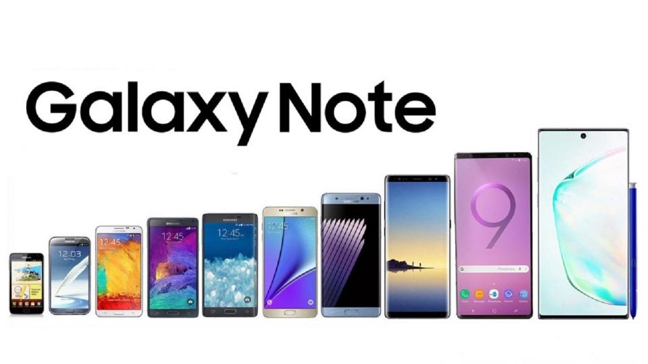 قیمت انواع گوشی موبایل سامسونگ سری Note