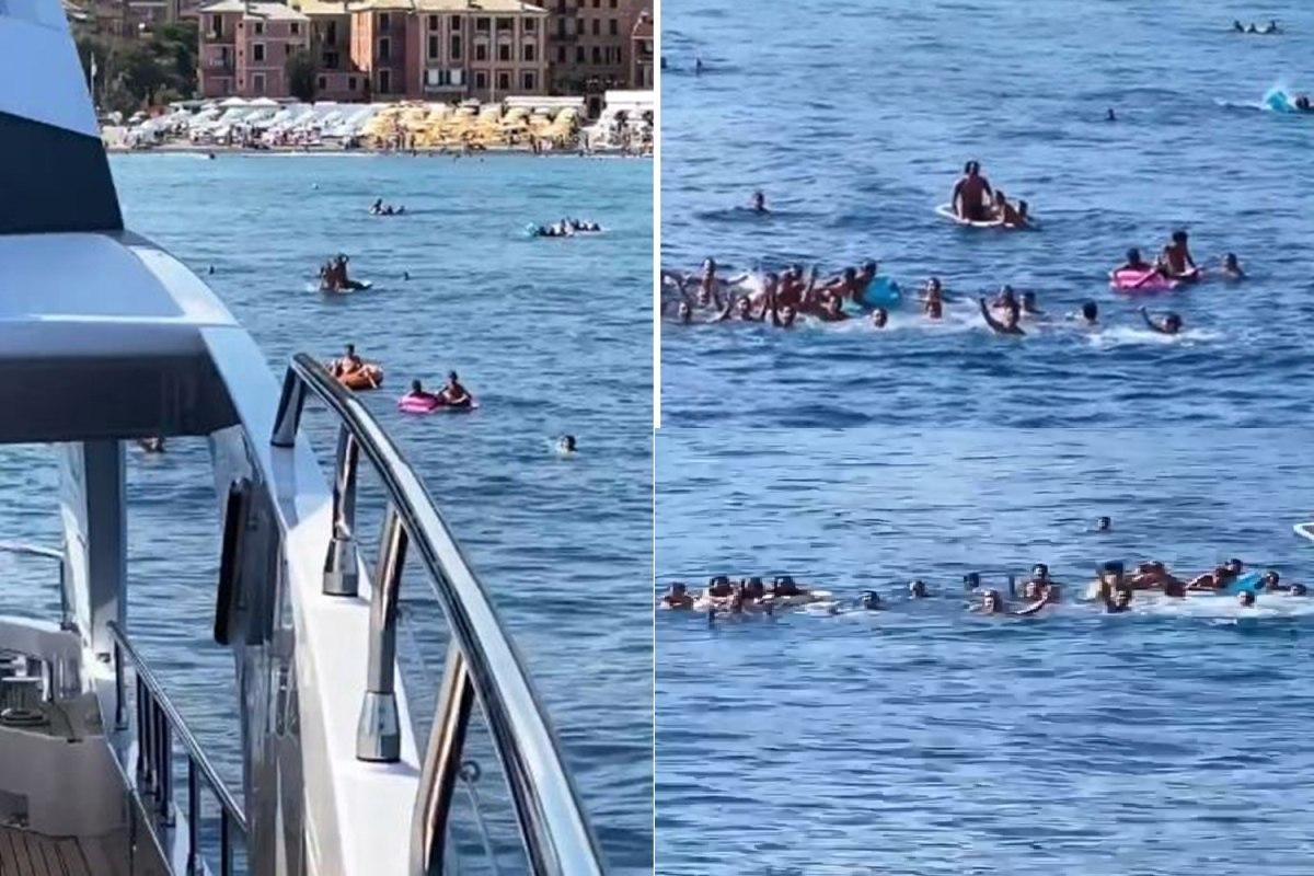 هجوم هواداران به کشتی رونالدو + تصاویر
