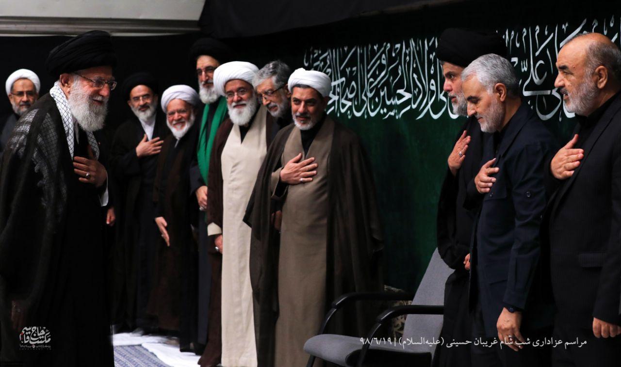 آخرین حضور شهید سلیمانی در مراسم عزای حسینی بیت رهبری