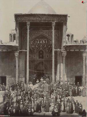 تصویر صد سال قبل از حرم امام حسین(ع)