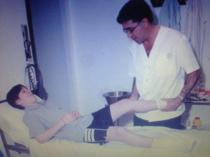 تصویر زیر خاکی از اولین تست پزشکی مسی در بارسلونا