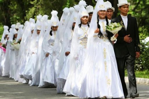 عروس و داماد های قرقیزستانی