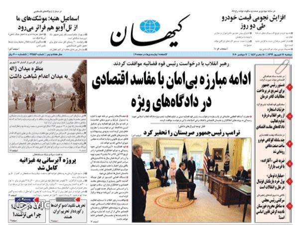 روزنامه های 17 شهریور 99