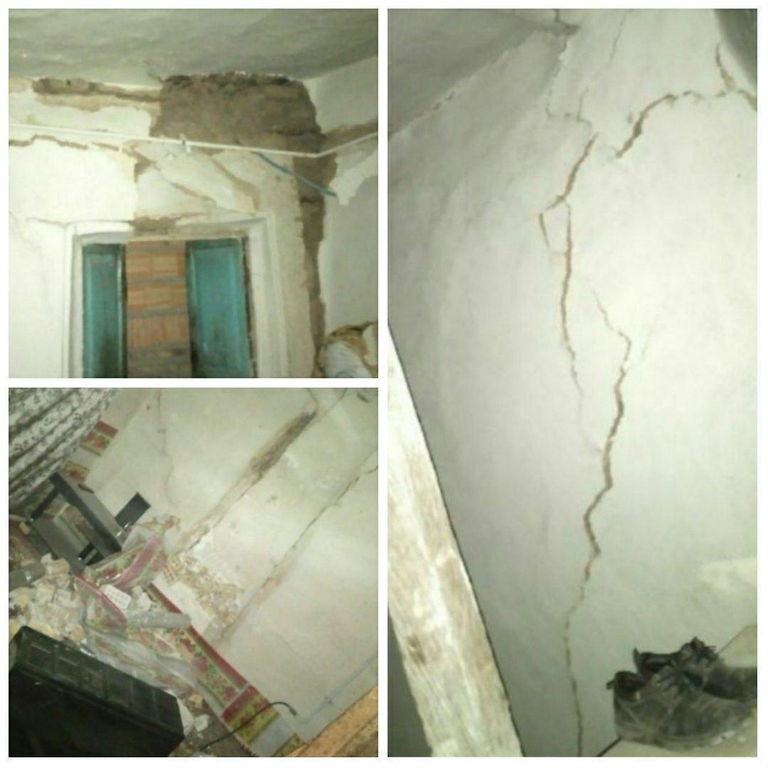 ترک خوردگی ساختمان در روستای «قورچای» رامیان