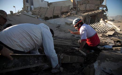 خسارت های ناشی از زمین لرزه ساعت بامداد رامیان