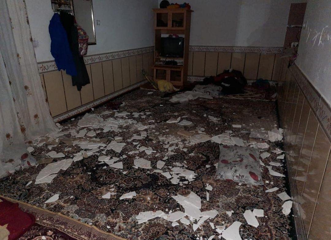 مناطق خسارت دیده از زلزله ۵.۱ ریشتری