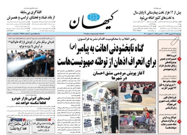 روزنامه های 19 شهریور 99