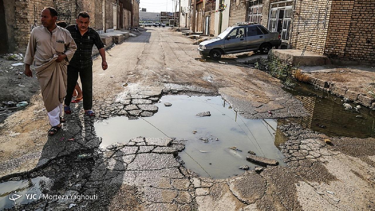 مشکلات فاضلاب در یکی از شهر های خوزستان