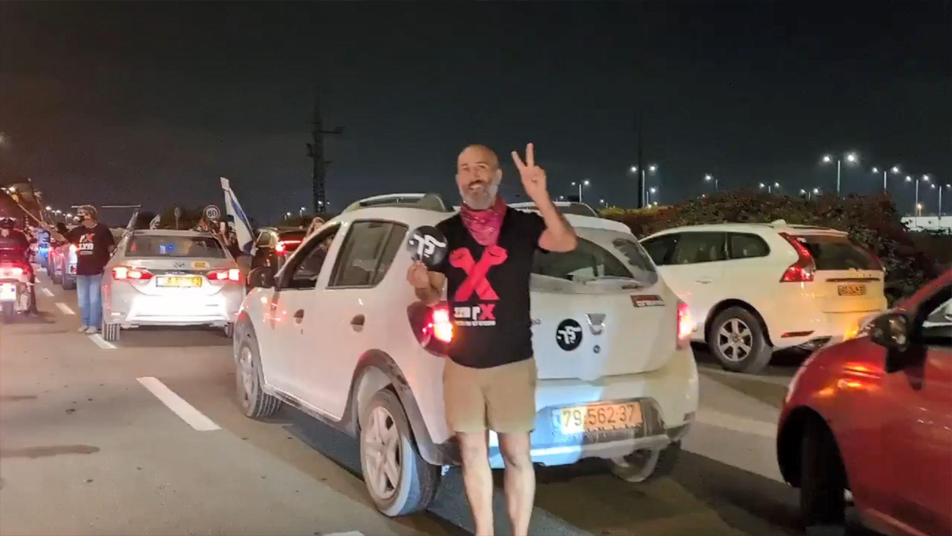 معترضان صهیونیست راه نتانیاهو به فرودگاه بنگورین را مسدود کردند 01