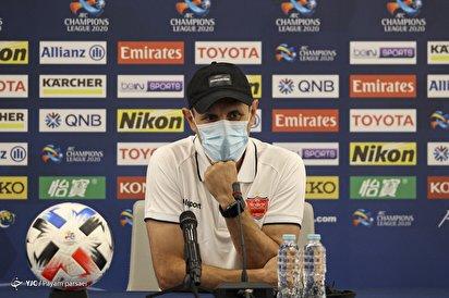 نشست خبری سرمربی تیم فوتبال پرسپولیس - قطر