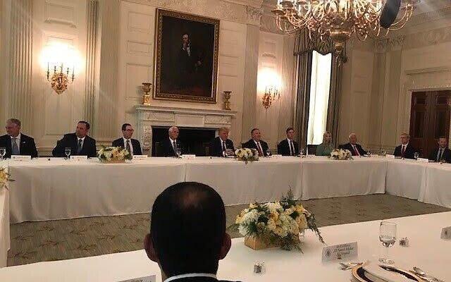 ضیافت ناهار ترامپ در کاخ سفید با حضور هیئتهای امارات، بحرین و رژیم صهیونیستی