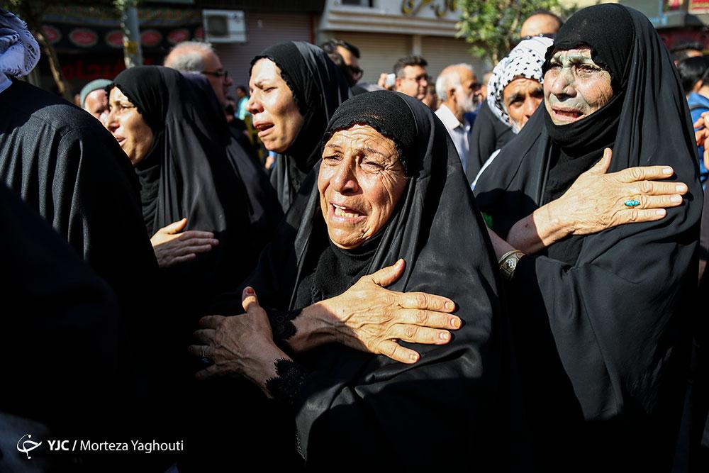 تشیع جنازه شهدای حمله تروریستی به رژه اهواز