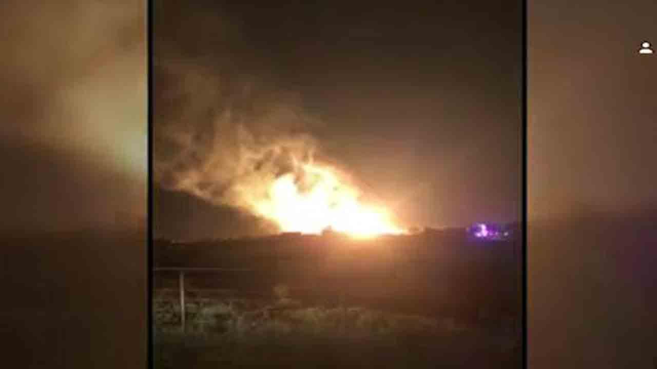 انفجار شدید خط لوله گاز