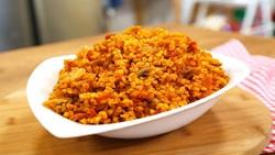 طرز تهیه بلغور پلو با لوبیا سبز