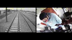 هوشیاری راننده قطار در زیر نگرفتن بچه ۳ ساله بر روی ریل + فیلم