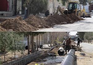 حل مشکل آبگرفتگی خیابان درمانگاه و سایت مکانیکی شهرک شهید رجایی