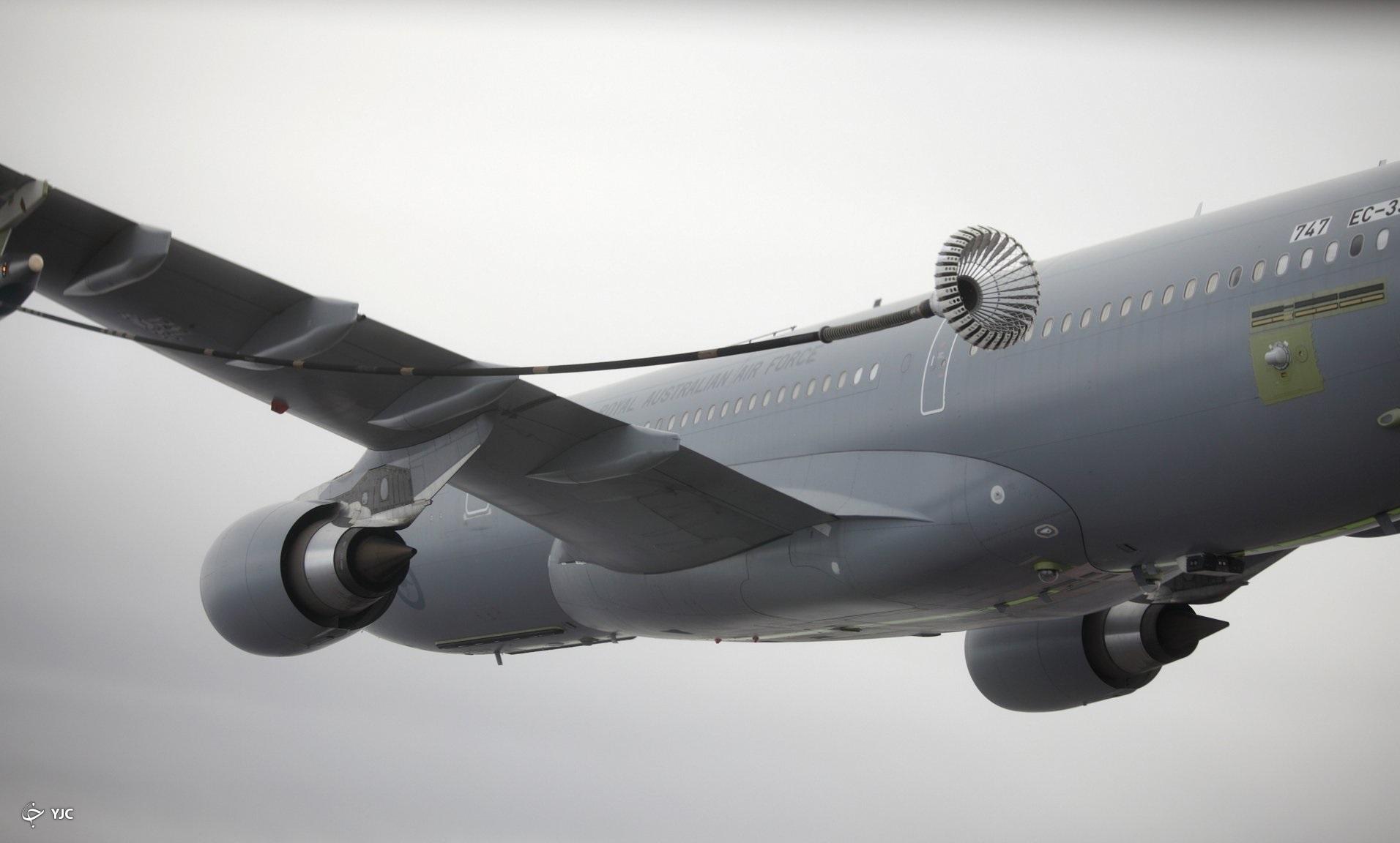 پمپ بنزین هوایی؛ سوختگیری هواپیمای در حال پرواز