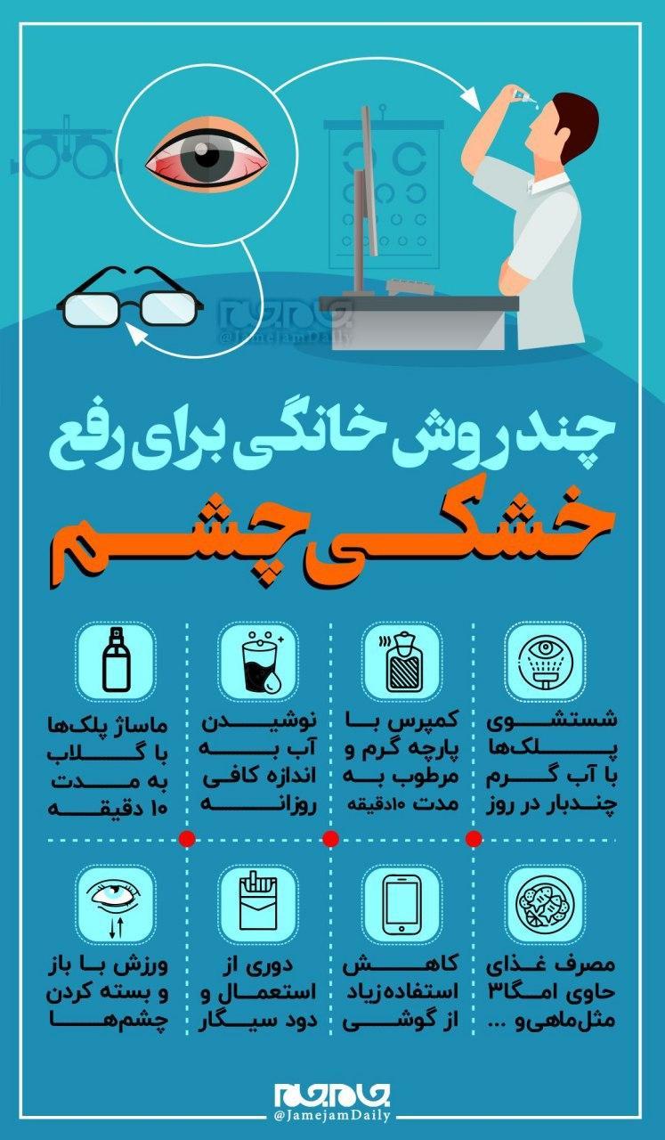 چند روش خانگی برای رفع خشکی چشم