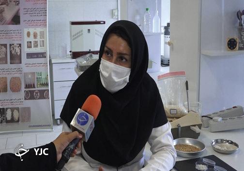 فتحی مسئول آزمایشگاه مرکز تحقیقات برنج