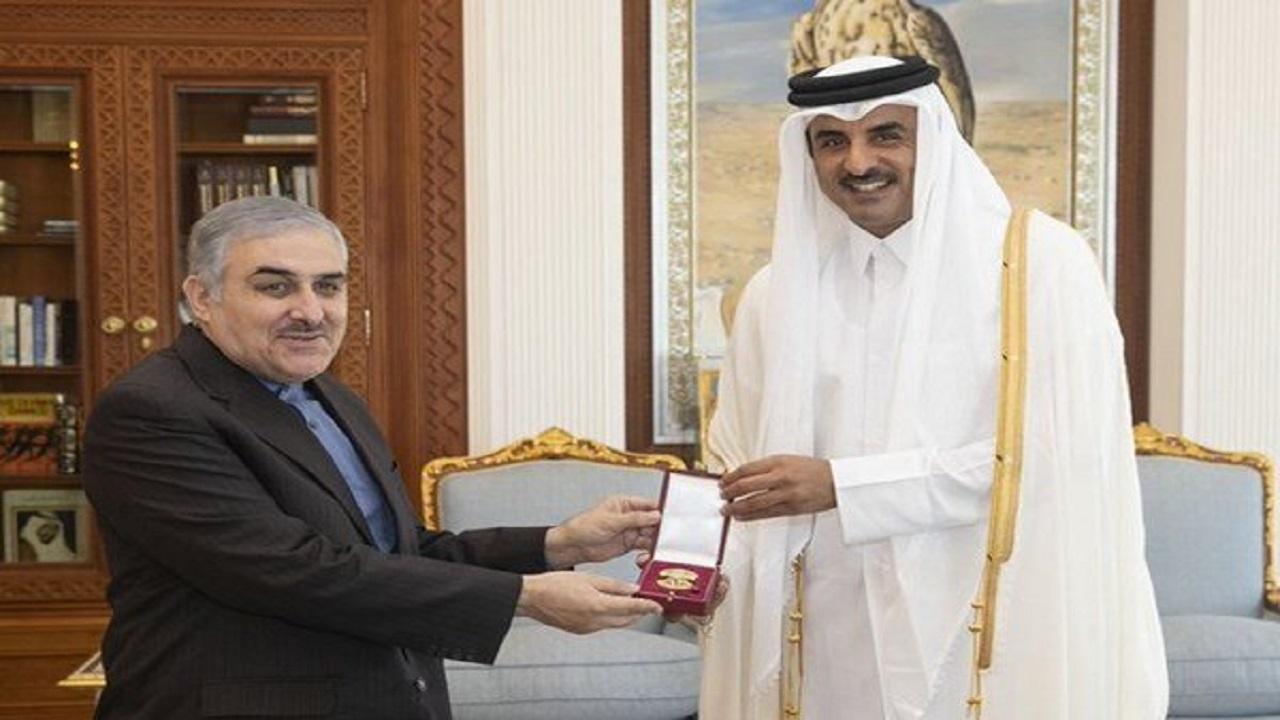 هدیه امیر قطر به سفیر ایران