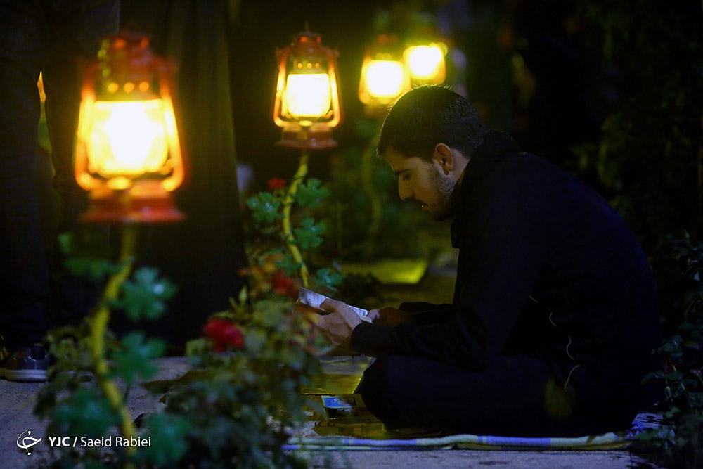 شبی کنار شهدا به یاد امام حسین