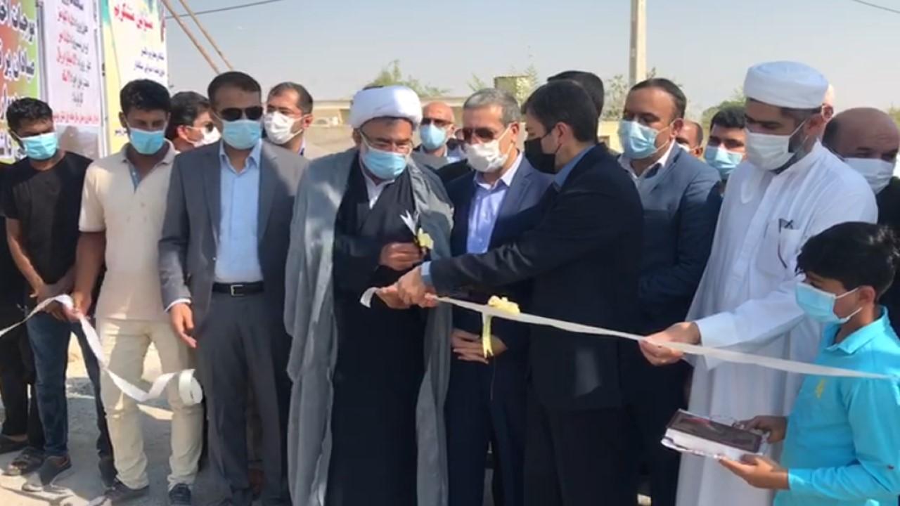 راه دسترسی روستای گردشگری بُنود به ساحل در عسلویه افتتاح شد