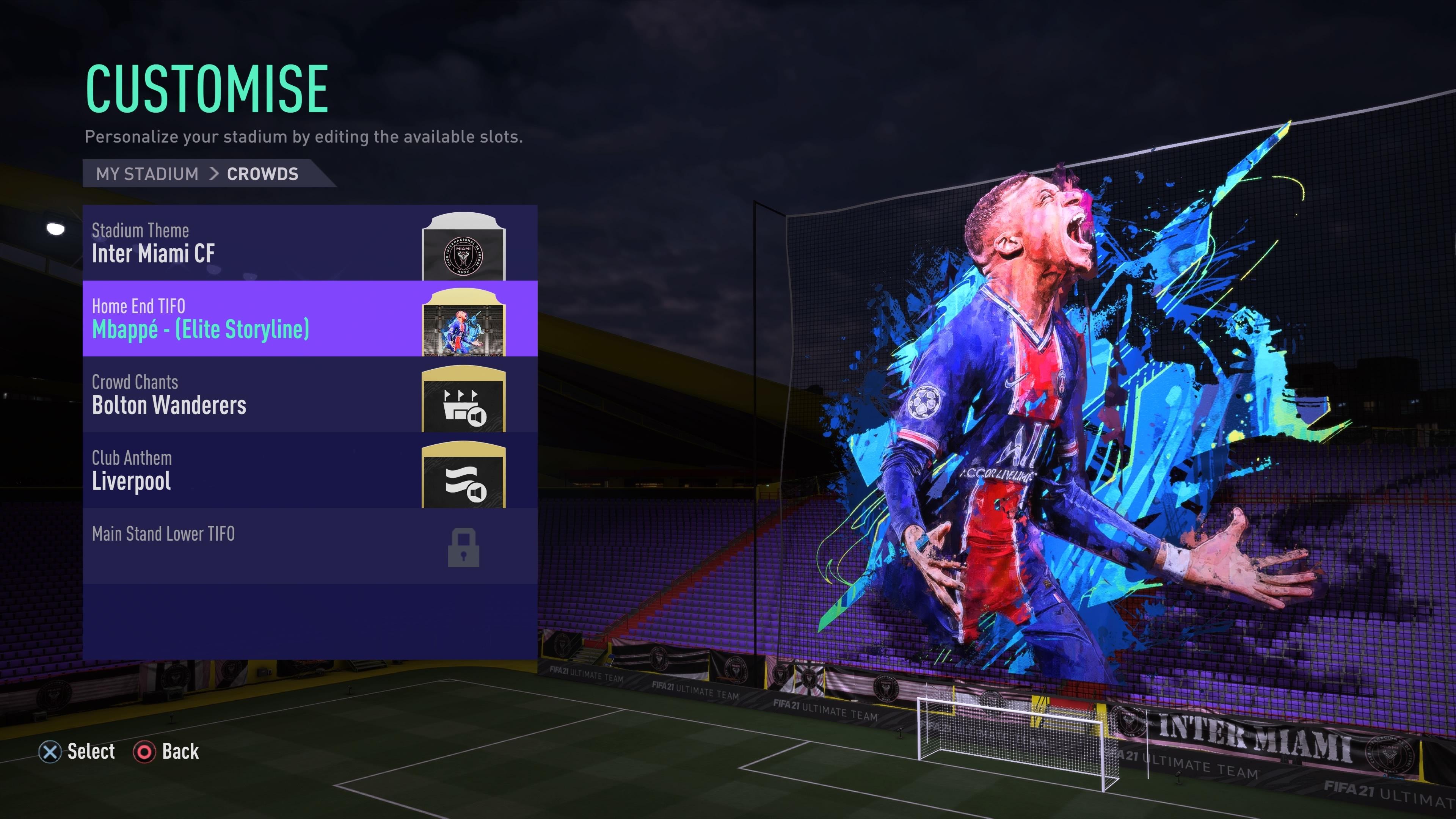 منوی FIFA 2021