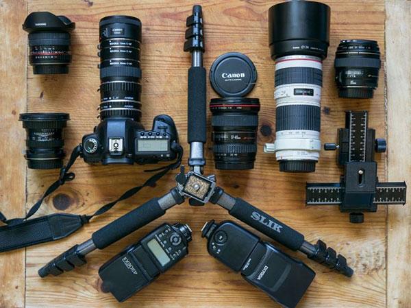 تجهیزات یک عکاس