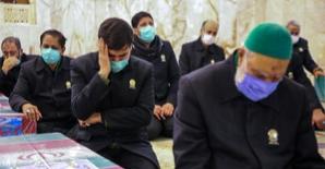 طواف پیکر شهدای خان طومان گرداگرد حرم رضوی