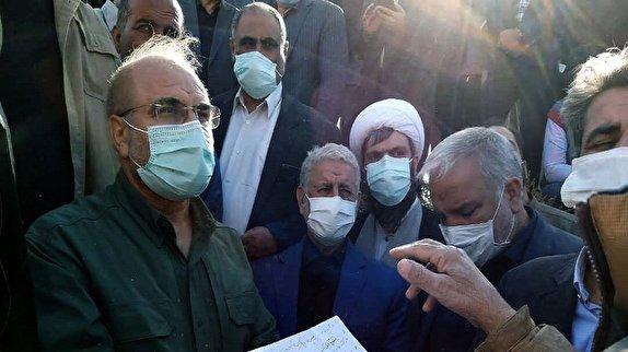 باشگاه خبرنگاران - قالیباف از طرح آبیاری ۴۶ هزار هکتاری دشت سیستان بازدید کرد