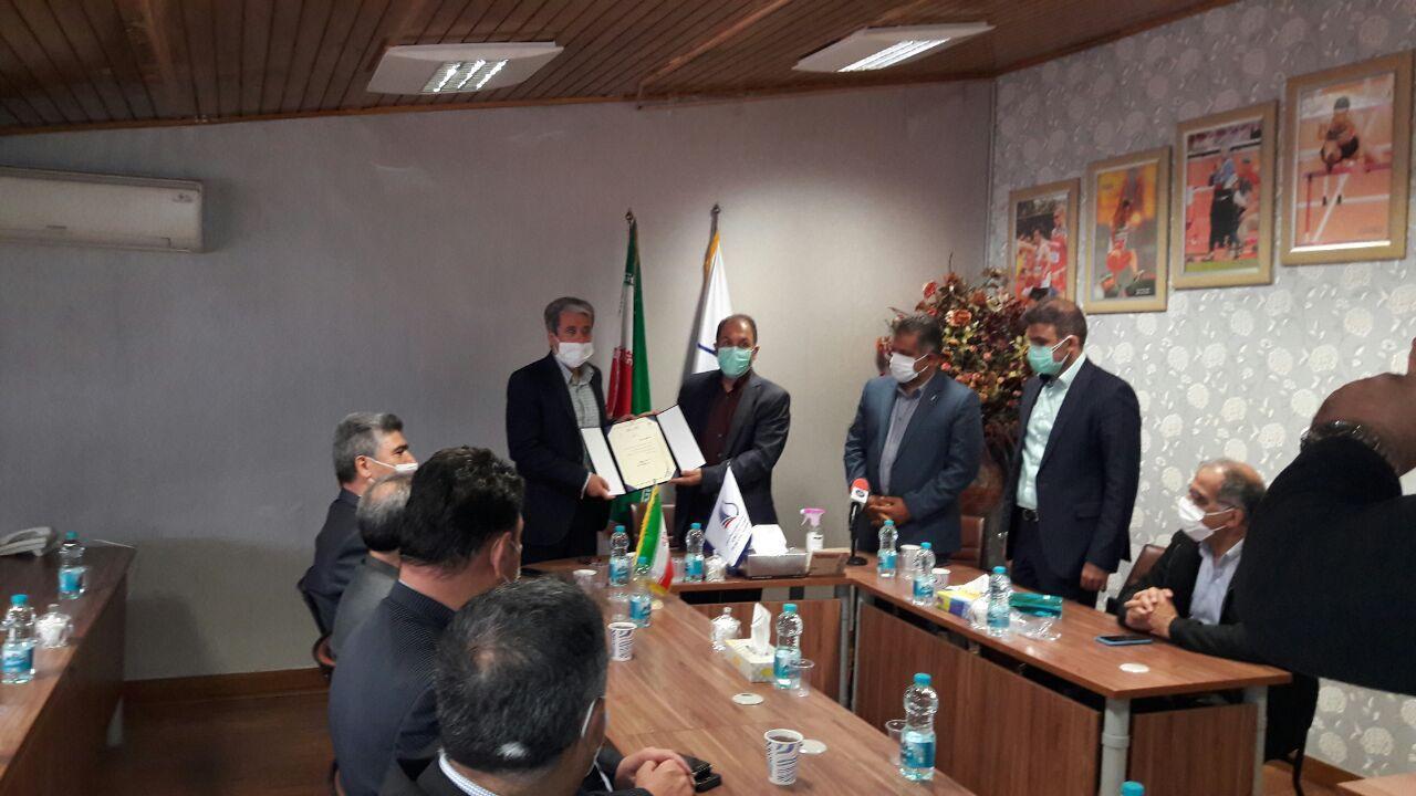 مراسم معارفه رئیس جدید فدراسیون دو و میدانی برگزار شد