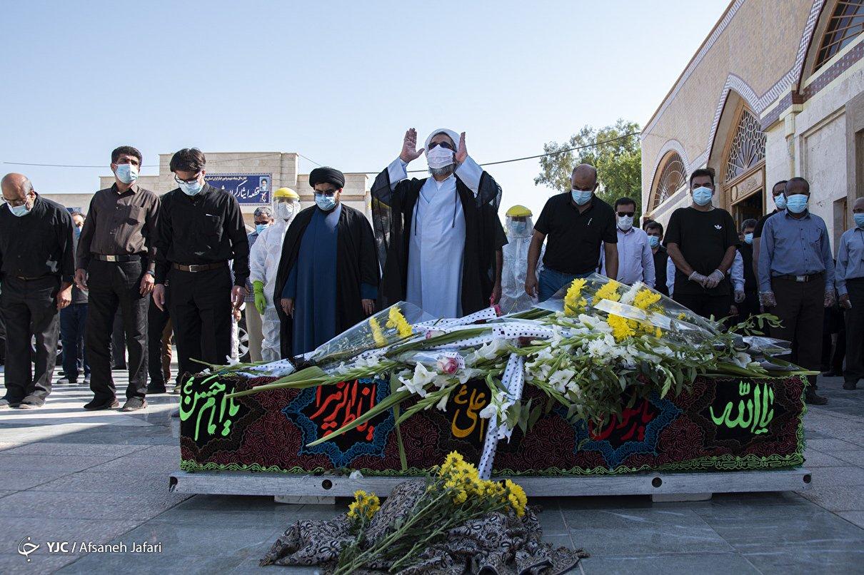 تشییع شهید مدافع سلامت - بوشهر