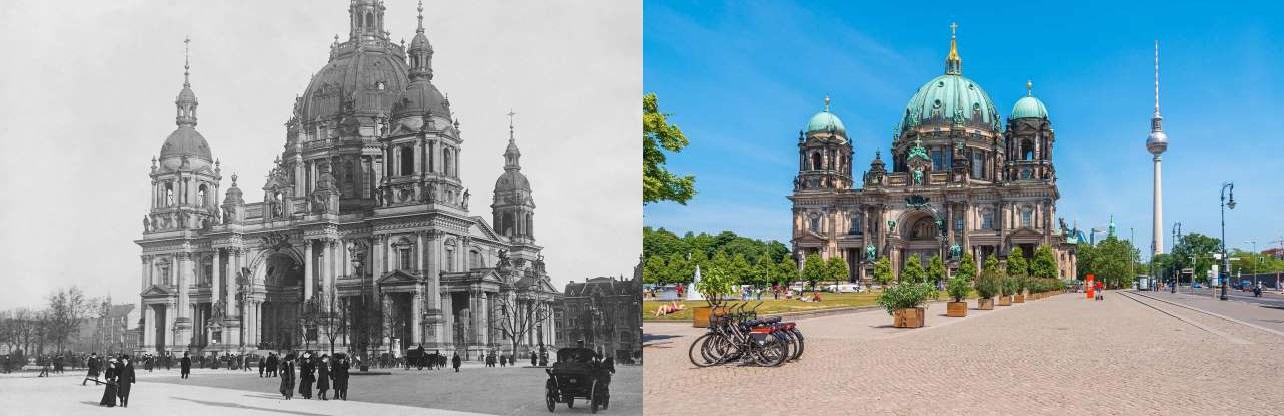 آن زمان و اکنون:عکسهایی باور نکردنی از گذشته و حال برخی از شهرها
