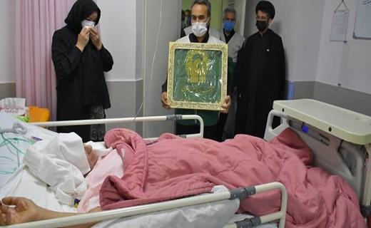 خادمیاران رضوی از بیماران قم عیادت کردند