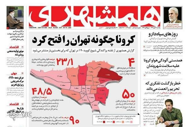 روزنامههای ۲۷ مهر ۹۹
