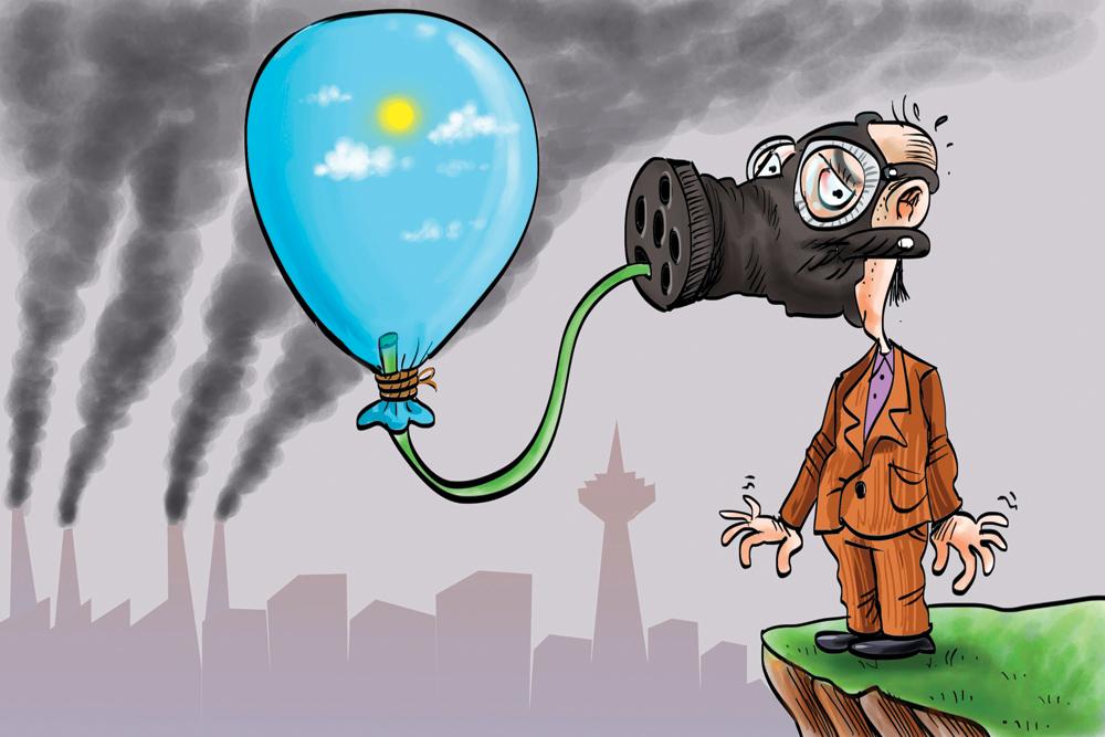 کاهش آلاینده های هوا در استان همدان