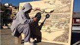 باشگاه خبرنگاران - نقاشی خلاقانه با انعکاس نور خورشید